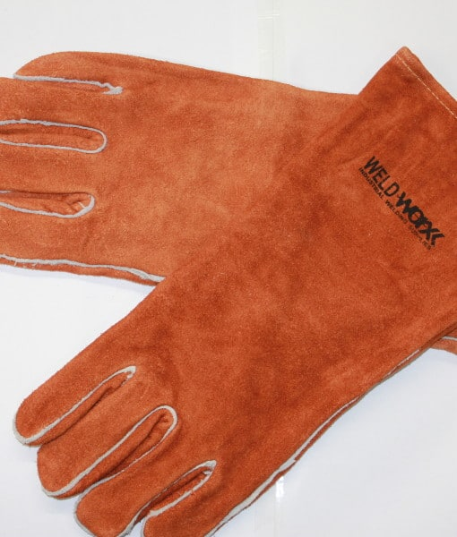 Welders Brown Gloves Split Cowhide 1