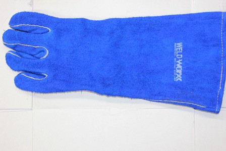 Left Hand Blue Welders Gloves 1