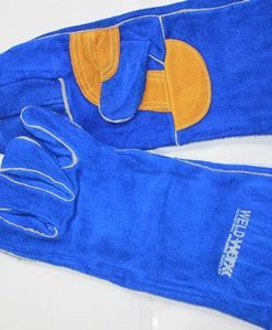 Reinforced Palm Kevlar Stitch Blue Welders Gloves